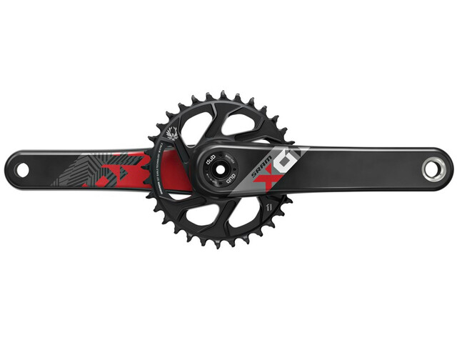 SRAM X01 Eagle DUB Kurbelgarnitur Direct Mount 32 Zähne 12-fach red